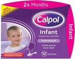 Calpol Infant Susp Sachets - Strawberry (12 sachets)